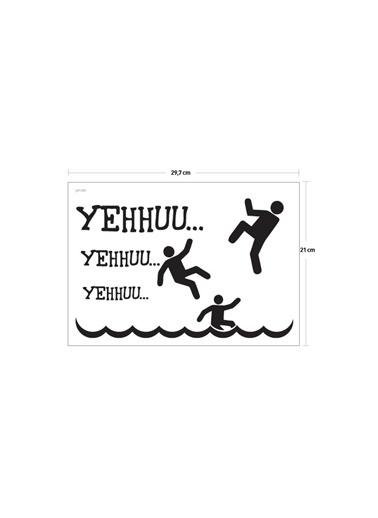Disney Yehu Klozet Sticker 17X27 Cm Renkli